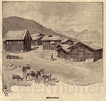 1900 Obermutten Zeichnung