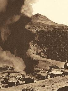 Obermutten beim Brand 1946